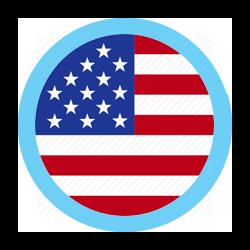 US round blue border