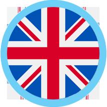 UK round blue border