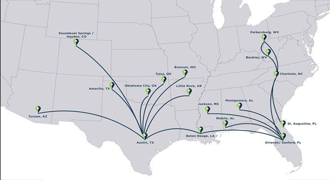 ViaAir route map