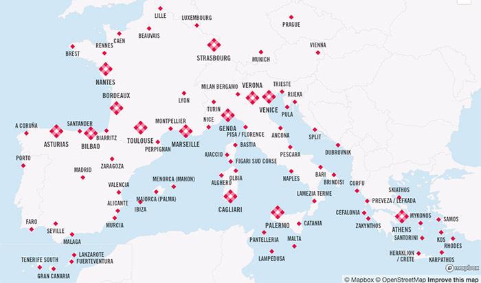 Volotea Route Map
