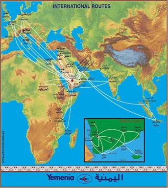 yemenia route map