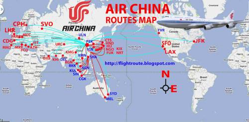 Air China Route Map