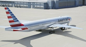 American Airlines new plane on tarmac