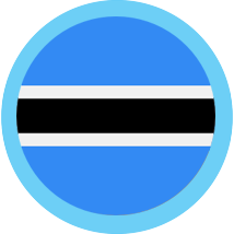 Botswana Round blue border