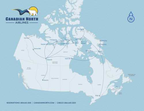 Canadian north airlines route map