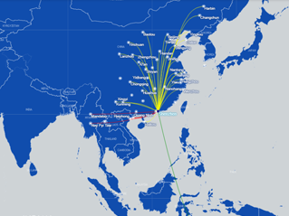 airline's route map