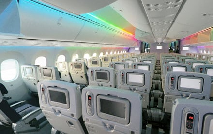 Economy Cabin in Dreamliner