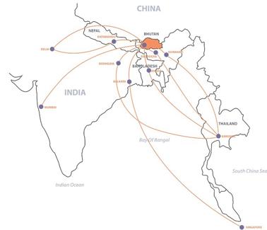 druk air route map