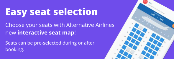 easy seat selection when you use Alternative Airlines' interactive seat map
