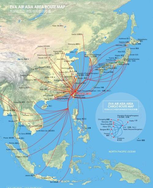 EVA Air Route Map
