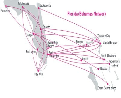 Silver Airways Routemap