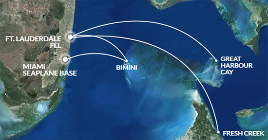 Tropic Ocean Air route map