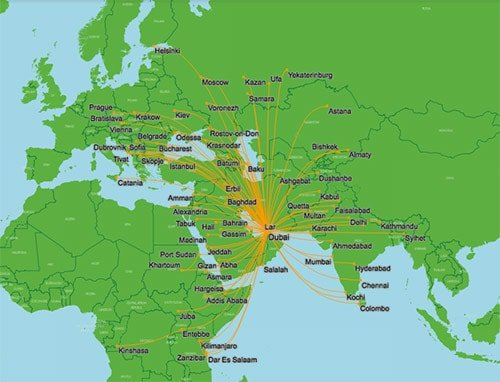 flydubai Route Map