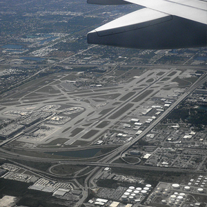 birds eye view of fort lauderdale airport