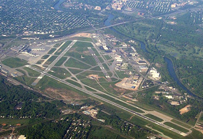rochester airport, aerial shot