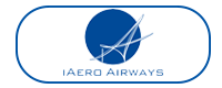iAero Airways logo blue box
