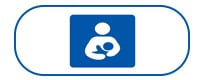 Mother and baby icon