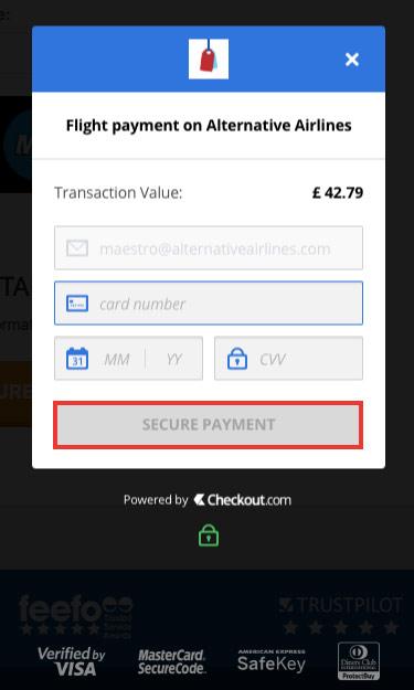 maestro payment type