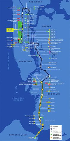 new york marathon route map