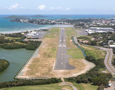 Noumea Magenta Airport Aerial view