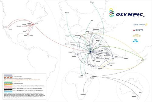 Olympic Air Route Map