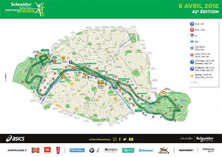 paris marathon route map
