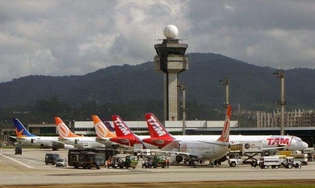 Planes at Sao Paolo Garulhos Airport