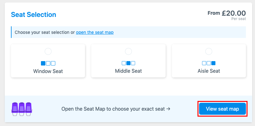 Step 3 Reserving Seats Seat Selection