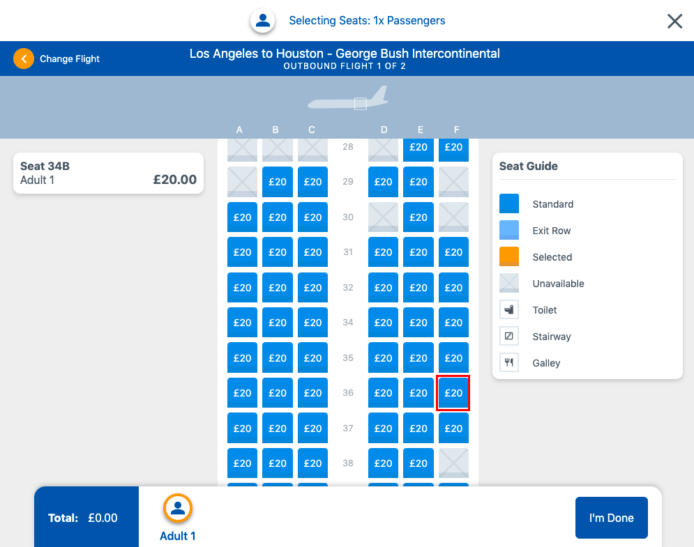 Step 4 Booking Seats Seat Selection