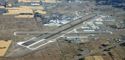 aerial view of Spokane Airport