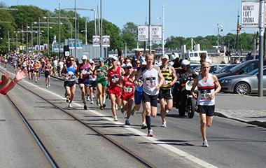 people running in stockholm marathon