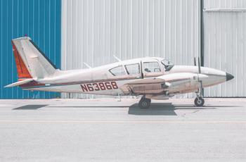 light twin engine plane