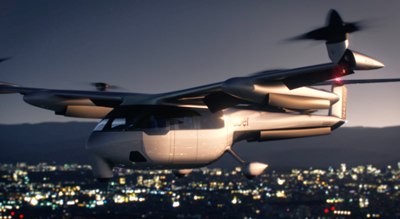 A digital construction of a proposed Uber plane