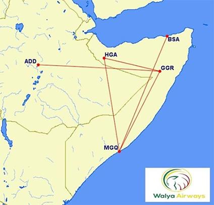 Walya Route Map