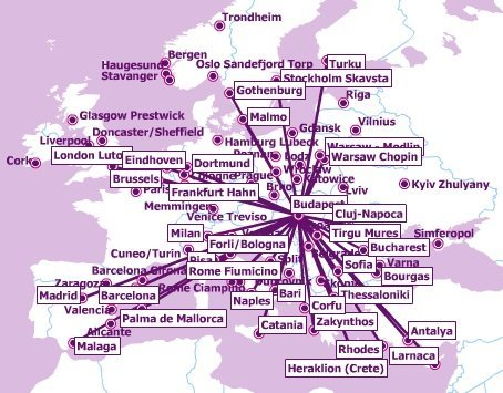 Wizz Air Route Map