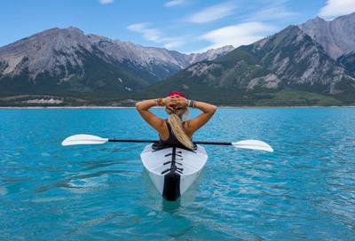 woman sailing on lake