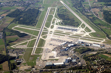 aerial view of zurich airport